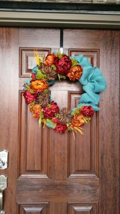 In every event, a mantel is an essential part of your room that you need to decorate. You can put various decoration around it, Blue Fall Decor, Fall Home Decor, Teal Pumpkin Project, Turquoise, Aqua, Flower Garlands, Fall Wreaths, Fall Crafts, Fall Halloween