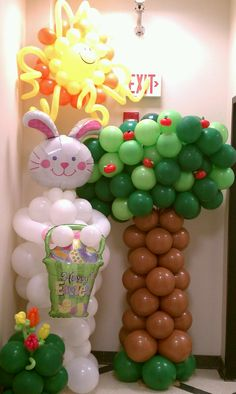 BIG EASTER BUNNY balloon sculpture, interested, check us out on FaceBook @ NYC balloon squad
