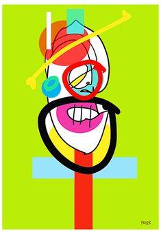 Flunktory Malison Po Po by Sam Freek - Contemporary art prints for the modern home - #art #artprint #abstractart #portrait