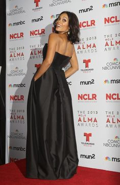 Rosario Dawson in a Houghton gown