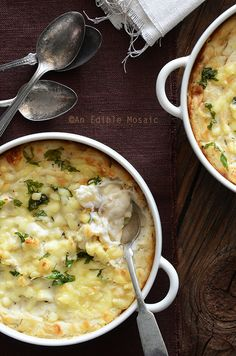 Cheesy Mashed Cauliflower Gratin by An Edible Mosaic Grain Brain Diet Menu Grain Brain Recipes☺ Low Carb Foods & Meals Pinspiration ☺ Grain Brain Diet  ♥ Wheat Belly Diet + DAILY Grain-free recipe idea updates #carbswitch carbswitch.com Please Repin :) Compilation of the top Pinterest pins