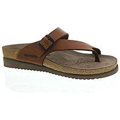 Mephisto Womens 3478 Helen Chestnut Leather Sandals 38 EU