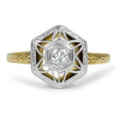 14K Yellow Gold, 14k White Gold The Debbra Ring from Brilliant Earth