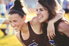 "SPORTS:  SIDELINES 1ST PLACE 2013 // ""Sisterly Bond"" by Diana Albrecht,  Tartan High School [Oakdale, MN]"