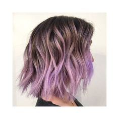 Latest Short Ombre Hairstyles 2018 Jump into one of the longest lasting color trends by going with one of these popular short ombre hair ideas. Best Ombre Hair, Ombre Hair Color, Pastel Ombre Hair, Pelo Color Ceniza, Purple Balayage, Balayage Bob, Balayage Color, Balayage Hairstyle, Color Highlights