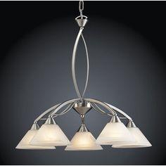 Westmore Lighting Elysburg 5-Light Satin Nickel Chandelier