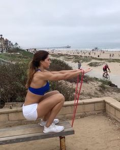 """13.4k Likes, 116 Comments - Alexia Clark (@alexia_clark) on Instagram: """"Beach Workout! 1. 15 reps 2. 12 each side 3. 20 reps 4. 12 reps 3-5 rounds #alexiaclark…"""""""