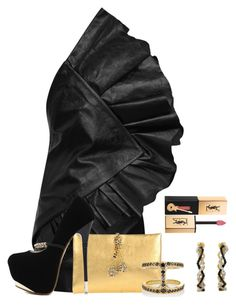 """I'm a mystery"" by borntoread ❤ liked on Polyvore featuring Yves Saint Laurent, Roberto Cavalli, WithChic and Hoorsenbuhs"