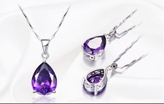 Waterdrop Amethyst Pendant Necklace Only For-US $13.97 / piece (-51%) Buy Now-http://s.click.aliexpress.com/e/6YRvBEq