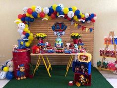 Paw Patrol Birthday Theme, Paw Patrol Party, 3rd Birthday Parties, Boy Birthday, Balloon Decorations, Birthday Decorations, Paw Patrol Balloons, Festa Pj Masks, Cumple Paw Patrol