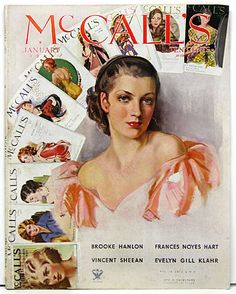 """Title: McCall's Magazine  Date: Jan. 1934  Artist: Neysa McMein  Size: 11""""x14""""    Comments: Lovely McCall's Magazine cover by Neysa McMein. McMein was both a great illustrator and glamorous celebrity of the era. Lots of great photos, fashion artwork and ads."""