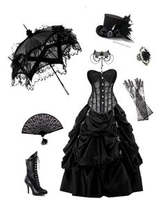 """""""Gothic Victorian"""" by cora-mccutcheon ❤ liked on Polyvore featuring Please, Dolce&Gabbana, black, corset, gothic and victorian"""