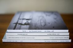 A family yearbook. Brilliant.  And love her layout and style.