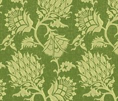 Contessa / Vert (willowlanetextiles - spoonflower)