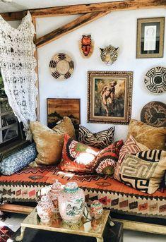 a cozy boho nook via bohocollective com new house idea pinterest