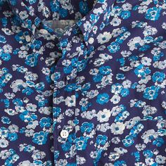 Short-sleeve shirt in navy floral. J.Crew
