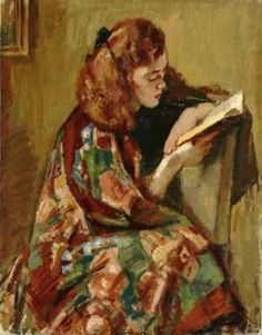 Young Woman Reading 1921-22 / Magnus Knut Enckell (Finnish, 1870-1925)