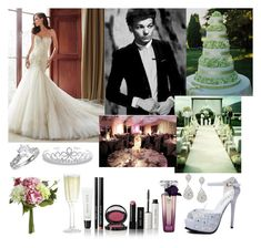 #172: Your Wedding With Louis by exoo on Polyvore featuring moda, Bling Jewelry, Lancôme, Pier 1 Imports, Crate and Barrel, Bobbi Brown Cosmetics and Martha Stewart