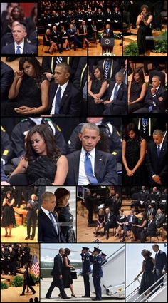 """#44thPresident #BarackObama #FirstLady #MichelleObama #MemorialService #Fallen #PoliceOfficers #Dallas #July12th #2016 """"If we cannot even talk about these things honestly and openly…we will never break this dangerous cycle,"""" Obama said. Dallas, TX — President Barack Obama on addressed a gathering at an interfaith memorial service in Dallas for the five officers killed in the line of duty at the hands of a gunman. In honoring the Dallas officers killed"""