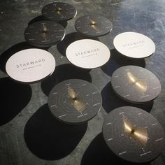 """143 Likes, 9 Comments - @taylordpress on Instagram: """"STARWARD Whisky drink coasters... Offset printed black, Gold Foiled and forme cut on Impact 350gsm…"""""""