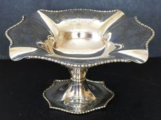 Antique THOMAS LATHAM ERNEST MORTEN Chased SILVER PLATED FOOTED Bon Bon TAZZA Antique Silver, Silver Plate, Coasters, Plating, Antiques, Ebay, Antiquities, Antique, Silverware Tray