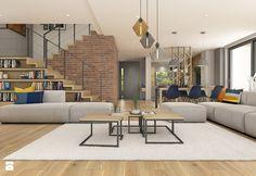 Dom pod Krakowem - przestrzeń zupełna - Duży salon z jadalnią, styl nowoczesny - zdjęcie od WERDHOME