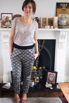 Deco trousers by What Katie Does, via Flickr