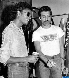 Michael Jackson and Freddie Mercury