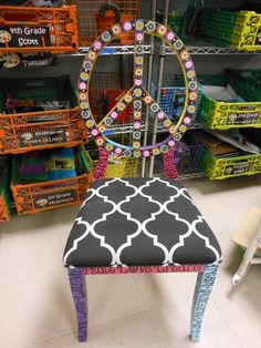 PEACE Sign Chair One of a KIND Hand painted by MrsStJohnsArtCamp, $550.00