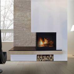 Suvremeni kamini u kolekciji Kamini Hoyan Modern Fireplace Decor, Cabin Fireplace, Living Room With Fireplace, Fireplace Design, Wall Mounted Fireplace, Tv Wall Decor, Log Burner, Architecture Design, Sweet Home