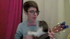 A love song for all the science geeks :-) Oh, and there is also a really cute cat that helps play the ukulele, so cat people will like this, too.