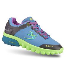 Gravity Defyer Womens GDefy GammaRay Blue Green Athletic Shoes 10 M US * Click on the image for additional details.