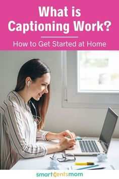Check out what captioning work is and how you can get started making extra money from home today. | Smart Cents Mom #sidehustle