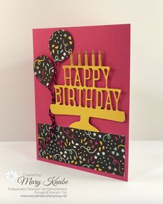 Stampin' Up! It's My Party Designer Series Paper, Balloon Bouquet Punch, and Party Pop-Up Thinlits Dies