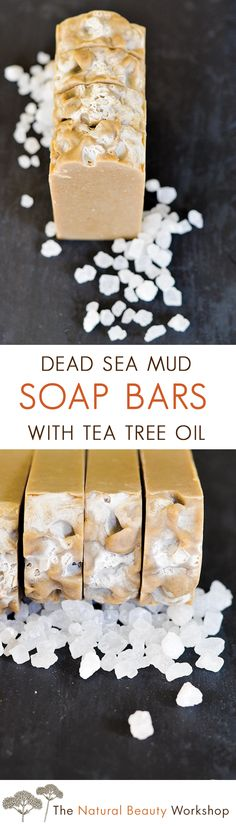 Make Your Own Dead Sea Mud and Tea Tree Soap From Scratch! | homemade soap making recipe