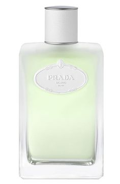 Prada 'Infusion d'Iris' Eau de Toilette.       Fresh and floral. Combines delicate lily of the valley, powdery violet, sensual cedar, and the Italian memories of clean, ironed linen.      Notes: Iris pallida, muguet, neroli, galbanum essence, heliotrope, cedar wood. Created by Daniela Andrier, launched in 2010.