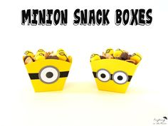 Minion Mix Snack Minion Food, Minion Craft, Minion Party, Marshmallow Dip, Mini Marshmallows, New Minions Movie, Homemade Face Paints, Joint Birthday Parties, Cocoa Puffs