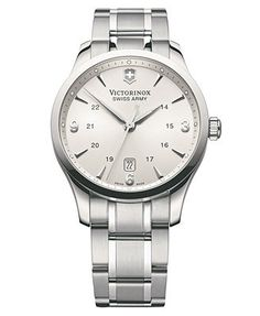 Victorinox Swiss Army Watch, Men's Alliance Stainless Steel Bracelet 241476