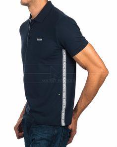 Navy Blue HUGO BOSS © Polo Shirt ✶ Paule | BEST PRICE Hugo Boss, Camisa Polo, Polo Rugby Shirt, Men's Polo, Polo Shirt Outfits, Sport Outfits, Polo Design, Boss Shirts, Burberry Men