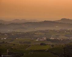 Orange sunset in Goriska Brda wine region. Photo by Nejc Trpin.  #photography #phototour #slovenia #trips4photos