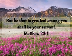 Matthew 23 and 11