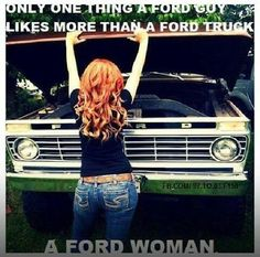 I don't know about truck, but Ford Mustang guys, I'm your girl!  lol