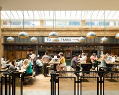 Fulham's Former Underground Station Has Been Transformed Into A Delicious Food Hall Market Hall, Fulham, Food Court, Places To Eat, Restaurant Bar, Yummy Food, London, Marketing, Camden