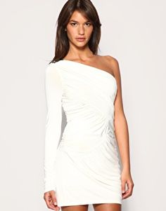 white one sleeve dress: Vegas!!