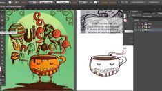 Tutorial/tip de texturas con trazo en Illustrator Texturas utilizando la pluma para los detalles en las ilustraciones. Para duplicar (coger el trazo…