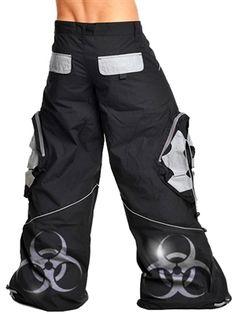 Booster Biohazard Pants from RaveReady.com    #Hardstyle #Shuffle #PhatPants