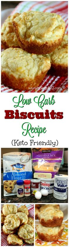 Low Carb Biscuits Recipe (Keto Friendly) is part of Low Carb bread - These have the right amount of cheese and tastes just like a real biscuit! I am loving the Keto diet! Biscuits Keto, Drop Biscuits, Cookies Et Biscuits, Baking Biscuits, Buttermilk Biscuits, Cheddar Biscuits, Cheese Biscuits, Keto Cookies, Healthy Cookies