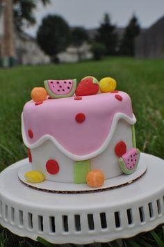 Summer Cake, Farmers Market Smash Cake, Fruit Cake Cakes - SCD by Sandra Garcia