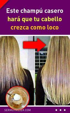Este champú casero hará que tu cabello crezca como loco Baking Soda Shampoo, Make Makeup, Natural Shampoo, Hair Hacks, Curly Hair Styles, Hair Beauty, Hairstyle, Skin Care, Tips