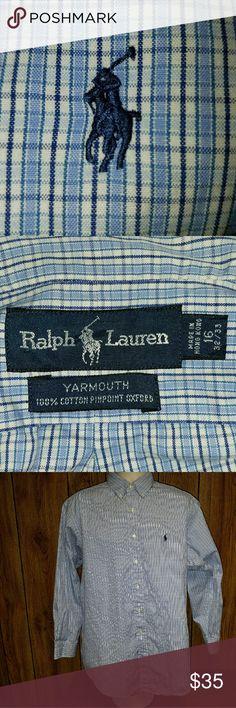 Ralph Lauren dress shirt Ralph Lauren plaid button up yarmouth oxford dress shirt. Ralph Lauren Shirts Dress Shirts